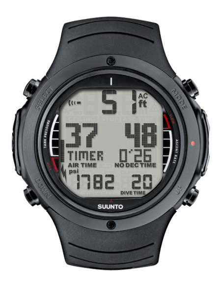 Suunto D6i 'ALL BLACK' (m/PC interface) FUE